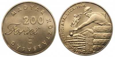 200 forint Pál utcai fiúk 2001