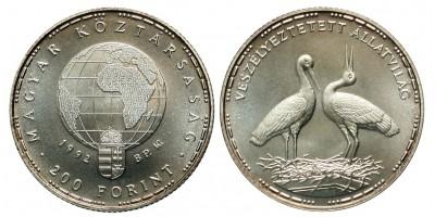 200 forint Veszélyeztetett állatvilág 1992 BU