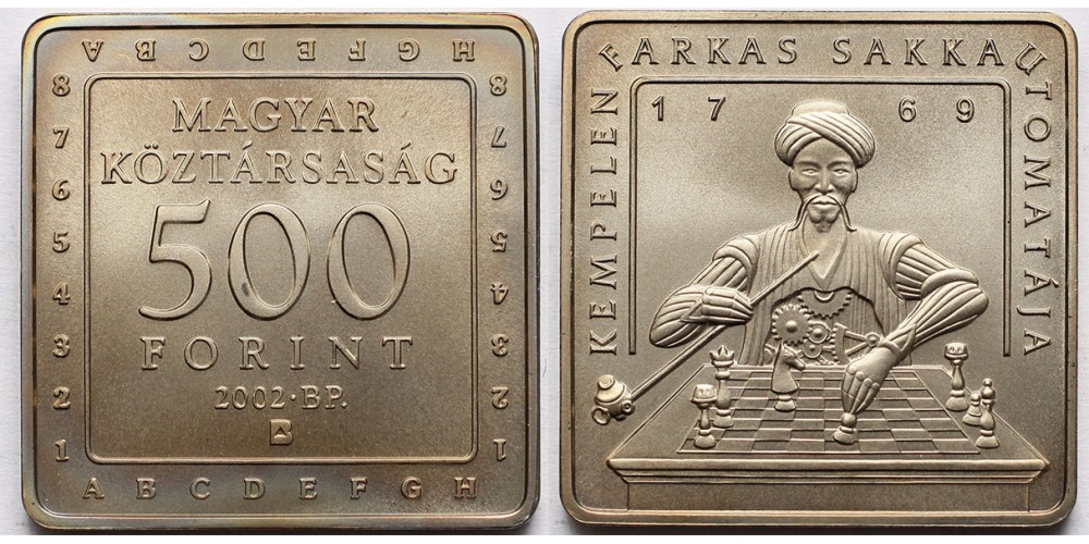 500 forint sakk 2002 BU
