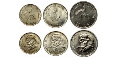 Kodály sor 25-50-100 forint 1967