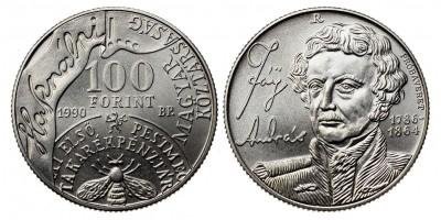 100 forint Fáy András 1990 BU