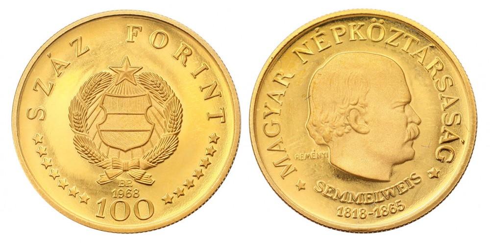 Semmelweis 100 forint 1968
