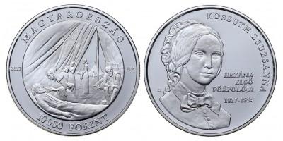 10000 forint Kossuth Zsuzsanna születésének 200.évfordulójára 2017 PP