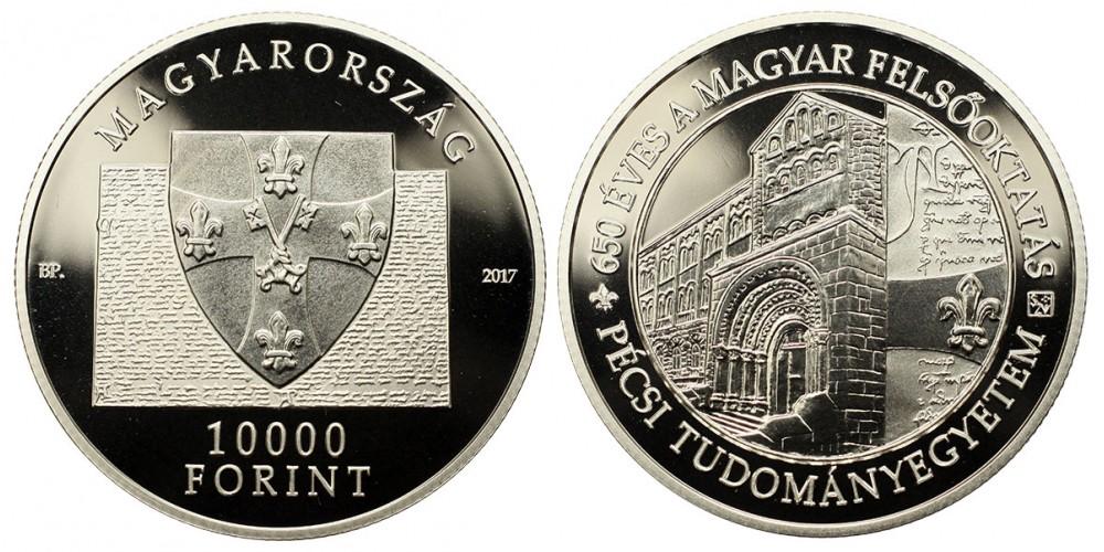 10000 forint 650 éves a Pécsi Tudományegyetem 2017 PP