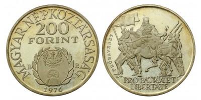 200 forint Rákóczi Ferenc 1976 PP Pénztervezet