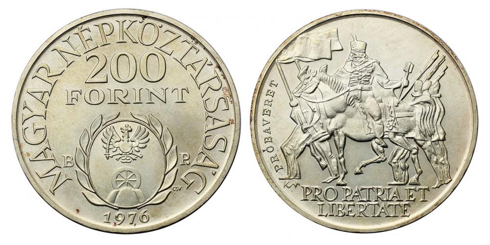 200 forint Rákóczi Ferenc 1976 BU Pénztervezet