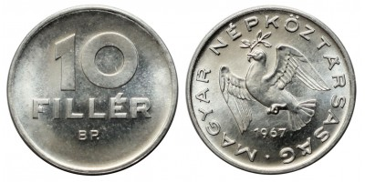 10 fillér 1967