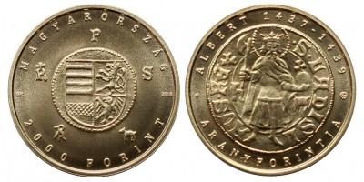 2000 forint Albert aranyforint 2018 BU
