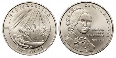 2000 forint  Kossuth Zsuzsanna 2017 BU