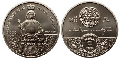 2000 forint Mátyás király 2018