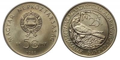 50 forint Világ vadvédelmi alap  1988