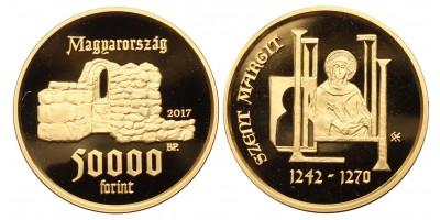 Szent Margit születésének 775.évfordulójára 50000 forint 2017