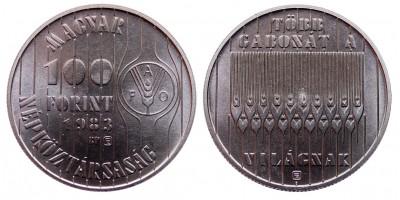 100 forint 1983 FAO