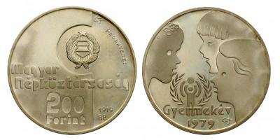 Nemzetközi Gyermekév 200 forint 1979 PP Pénztervezet