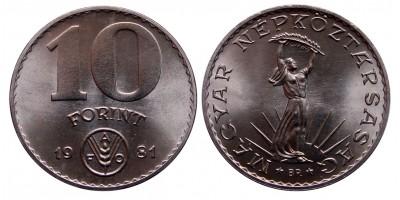 10 forint 1981 FAO
