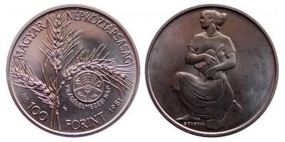 100 forint 1981 FAO