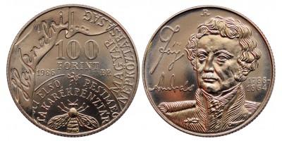 100 forint Fáy András 1986