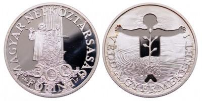 500 forint Védd a gyermekeket 1989