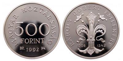 500 forint Károly Róbert 1992
