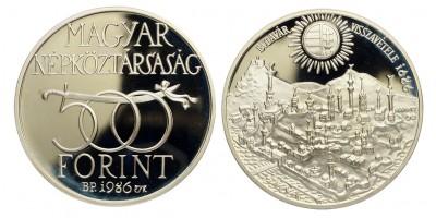 500 forint Buda visszafoglalásának 300.évfordulójára 1986