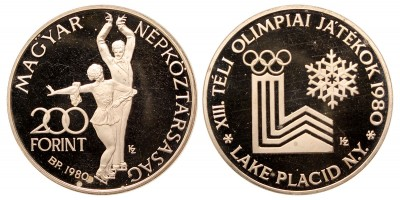 200 forint Lake Placid 1980  Piefort