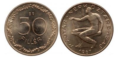50 fillér 1967 ARTEX utánveret