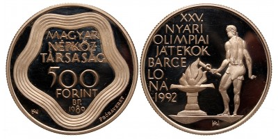 500 forint Olimpia  1989 PP próbaveret