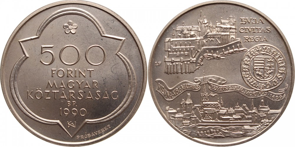 500 forint 1990 Buda próbaveret