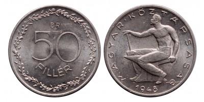 Magyar Köztársaság 50 fillér 1948