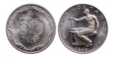 Magyar Köztársaság 50 Fillér 1948 UV