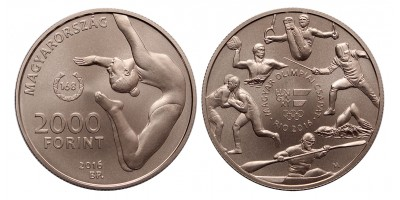 2000 forint Nyári Olimpia 2016