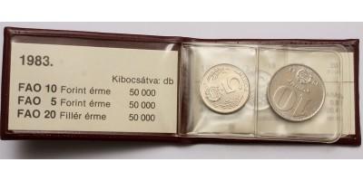 20 fillér 5-10 forint FAO 1983