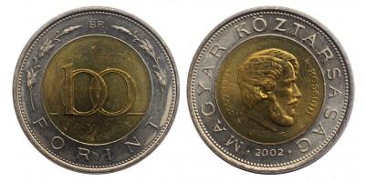 Kossuth 100 forint 2002 (kötőjel nélkül)