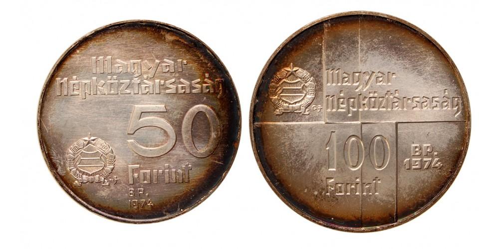 Magyar Nemzeti Bank 50-100 forint 1974