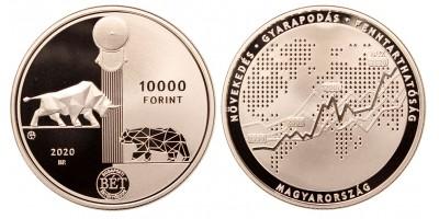 10000 forint Budapesti Értéktőzsde 2020