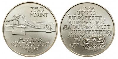 750 forint Budapest egyesítése 1998 BU