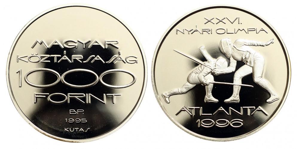 1000 forint Olimpia - Vívás 1996 PP