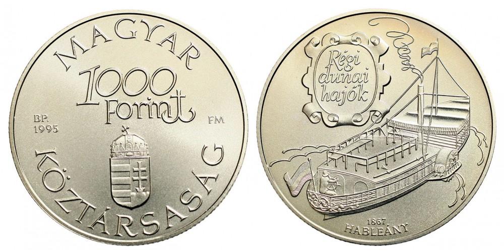 1000 Forint Régi Dunai Hajók - Hableány 1995 BU