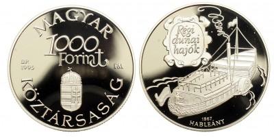 1000 Forint Régi Dunai Hajók - Hableány 1995 PP
