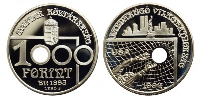 1000 Forint Labdarúgó VB USA 1993 PP