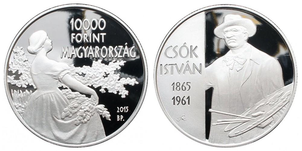 10000 Forint Csók István 2015 PP