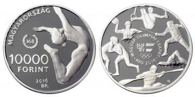 10000 Forint Olimpia  2016 PP