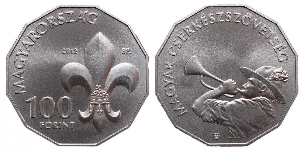 100 Forint Magyar Cserkésszövetség 2012 BU