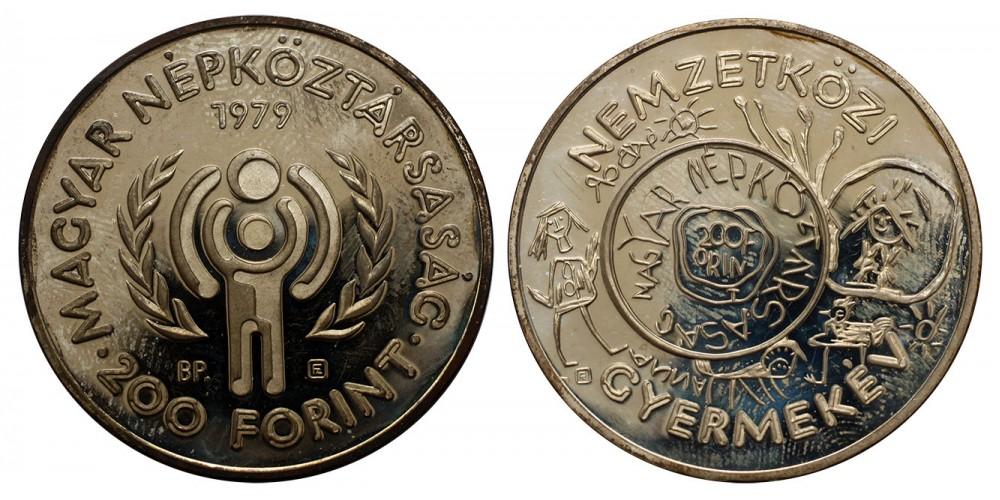 200 forint Nemzetközi Gyermekév piefort 1979 PP