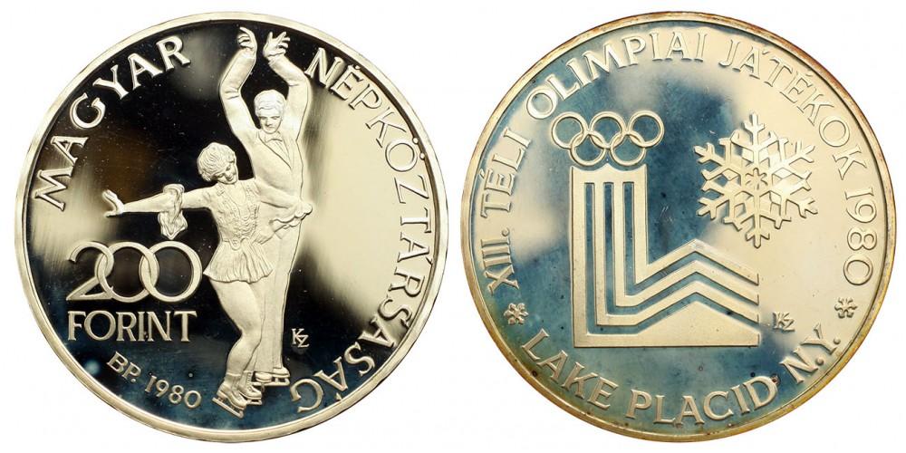 200 forint Lake Placid 1980 PP