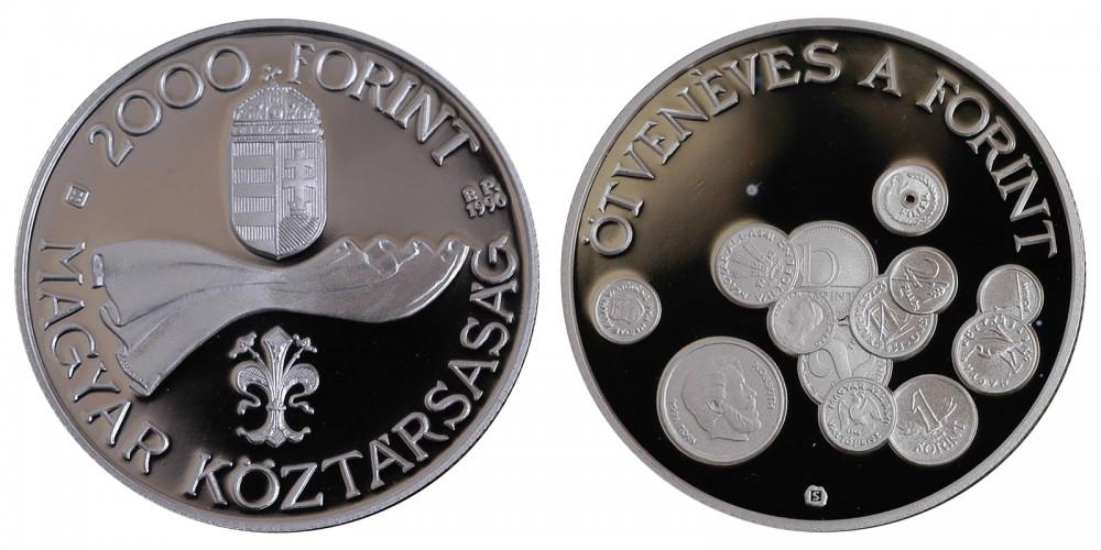 2000 Ft 50 éves a forint 1996 PP