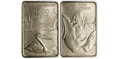 2000 forint 150 éves a Budapesti Állatkert 2016