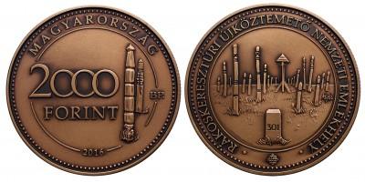 2000 forint a Rákoskeresztúri Nemzeti Köztemető 2016