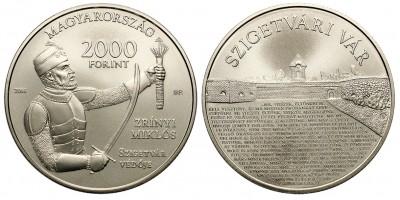2000 forint Zrínyi Miklós,Szigetvári Vár 2016