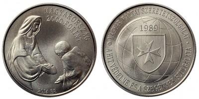 2000 forint a Magyar Máltai Szeretetszolgálat 25.évfordulója 2014 BU